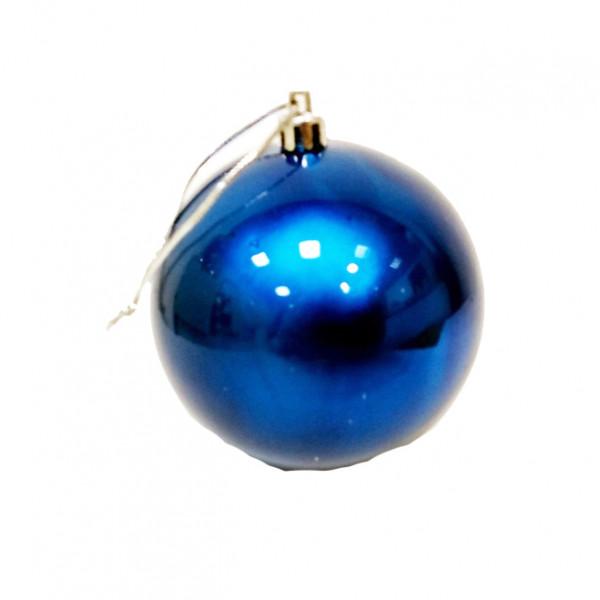 Елочный синий шар, диаметр 7,5 см, 1 шт.