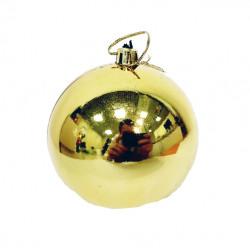 Елочный золотой шар, диаметр 7,5 см, 1 шт.