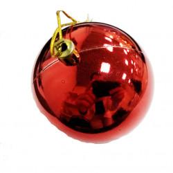 Елочный красный шар, диаметр 7,5 см, 1 шт.