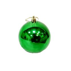 Елочный зеленый шар, диаметр 7,5 см, 1 шт.
