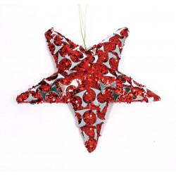 Звезда красная, 20 см, подвесная, 1 шт.