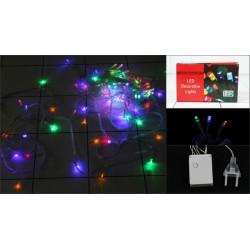 Гирлянда электрическая 400 ламп, мультиколор, 15 метров, прозрачный провод, 8 режимов