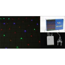 Гирлянда электрическая сетка, 180 ламп, мультиколор, 1,5х1,5 м, прозрачный провод, 8 режимов