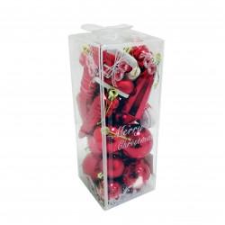 Новогодние красные Шары, диаметр 4 см, 21 шт.